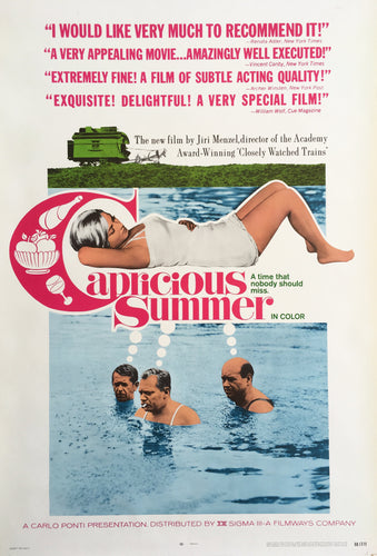 CAPRICIOUS SUMMER Original 1968 Unfolded U.S. One Sheet 1sh NSS Poster - Czech Film Poster Gallery