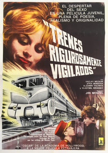 CLOSELY WATCHED TRAINS Oversized Argentinian Vintage Poster - Czech Film Poster Gallery