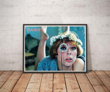 Load image into Gallery viewer, Daisies Vintage Like Poster Print of Vera Chytilova Feminist Manifesto Czechoslovak New Wave 60's Cinema Wall Hanging