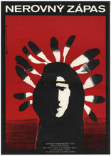 Load image into Gallery viewer, Triumphs of a Man Called Horse art of a first nation man and feathers - Czech Film Poster Gallery