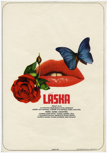 Love (Láska) Poster by Karel Vaca - Czech Film Poster Gallery