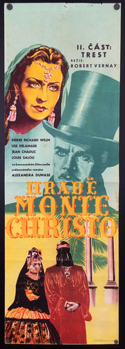 The Count of Monte Cristo Film by Robert Vernay Alexander Dumas Cinema Theatre Poster Czechoslovakia image of Pierre Richard-Willm and Michèle Alfa - Czech Poster Gallery