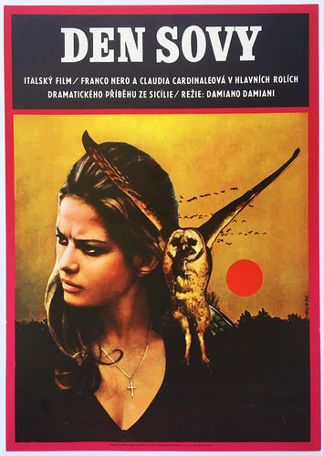 Claudia Cardinale And owl - Czech Poster Gallery