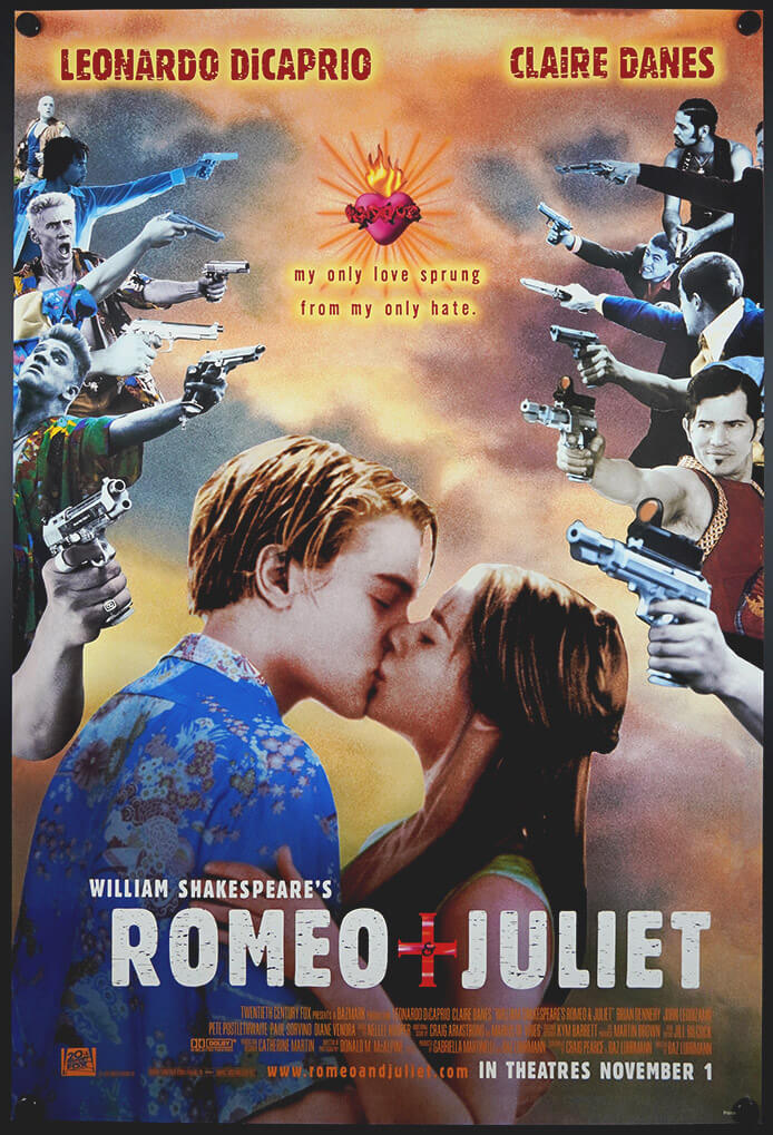 Romeo & Juliet One Sheet U.S. Movie Poster with Leonardo DiCaprio - Czech Poster Gallery