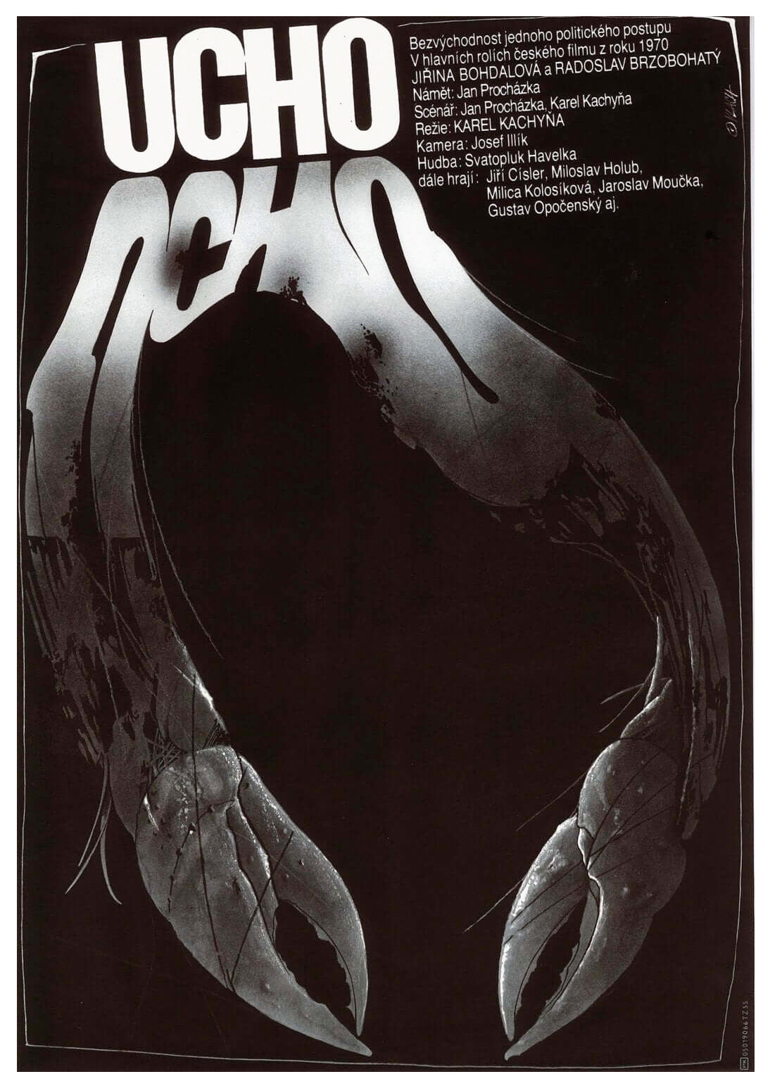 THE EAR (Ucho) Czech Poster