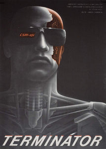 THE TERMINATOR | Czech Movie Poster - Czech Film Poster Gallery