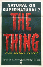 Load image into Gallery viewer, The Thing from another world old 1951 one sheet cinema poster