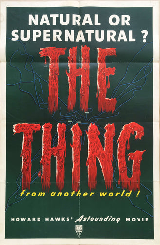 The Thing from another world old 1951 one sheet cinema poster