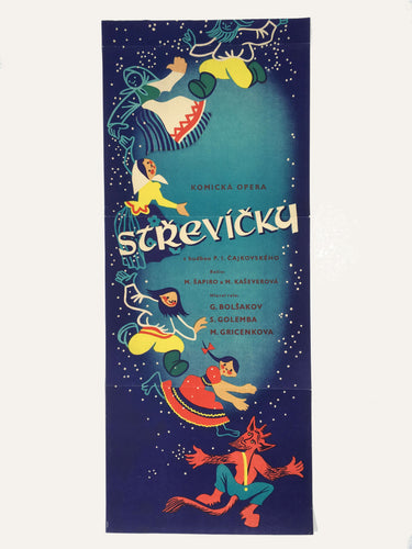 Zolushka Cinderella vintage film poster for russian movie from czechoslovakia - Czech Poster Gallery