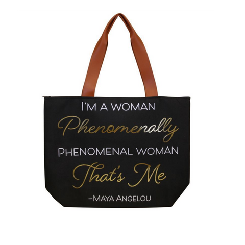 Maya Angelou Phenomenal Canvas Tote Bag