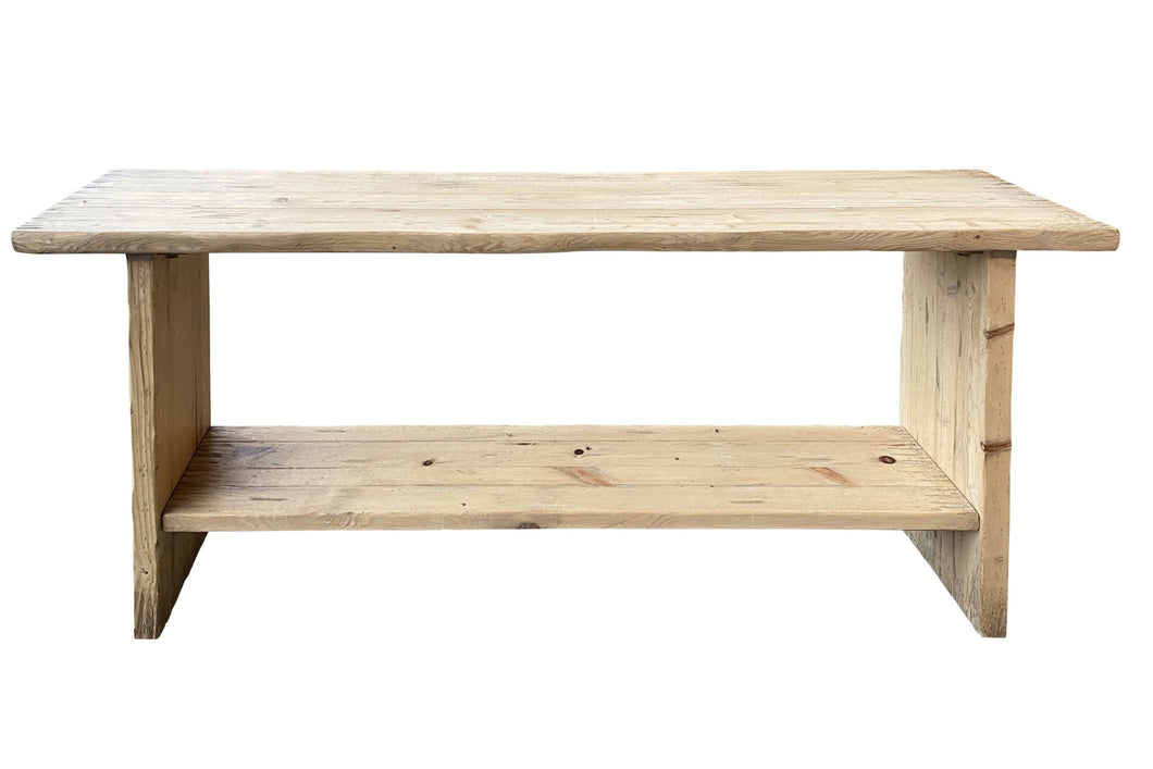 BROAD LEG CONSOLE WITH SHELF