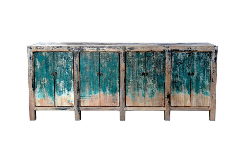 BLUE DISTRESSED PAINT BUFFET (H13)