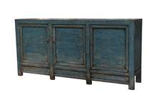 Load image into Gallery viewer, 3 DOOR BLUE LACQUERED BUFFET (H9)