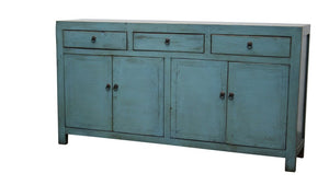 Lacquered Buffet 3 Door 4 Draw- Blue