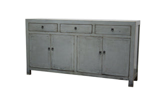 Lacquered Buffet 3 Door 4 Draw - Grey