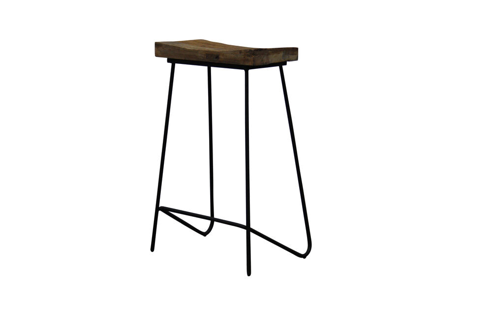 Industrial Elm Bar Stool