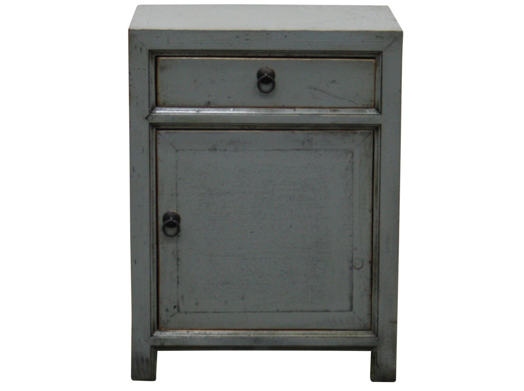 Lacquered Elm Bedside - Grey