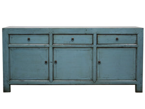Lacquered Buffet 3 Draw 3 Door - Blue