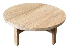 RECYCLED ELM COFFEE TABLE 1M ROUND