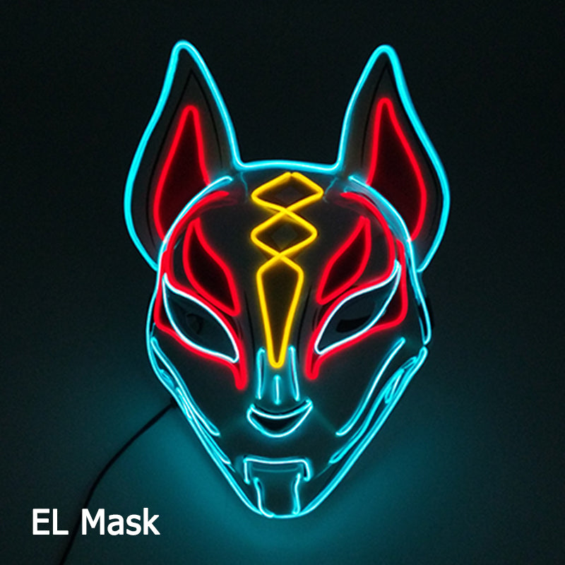 Led Fox Neon Mask
