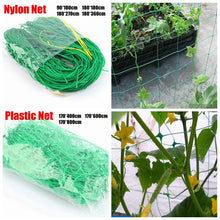 Load image into Gallery viewer, 1pc Garden Plants Climbing Net Plastic & Nylon Net Morning Glory Flower Vine Netting Support Net Grow Net Holder Garden Netting