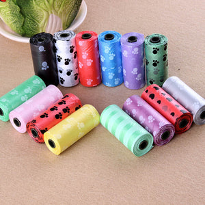 Pet Supply 10Rolls 150pcs Printing Cat Dog Poop Bags Outdoor Home Clean Refill Garbage Bag
