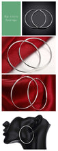 Load image into Gallery viewer, 100% 925 Sterling Silver Hoop Earring For Women 50MM Big Round Circle Earrings Jewelry Gift