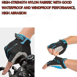 Cycling Anti-slip Anti-sweat Men Women Half Finger Gloves Breathable Anti-shock Sports Gloves MTB Bike Bicycle Glove