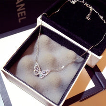 Load image into Gallery viewer, Cute Rose Gold Silver Color Butterfly Pendant Long Chain Necklace Choker for Women Fashion Jewelry 2020 NEw