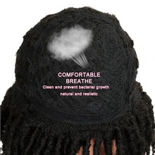 "Load image into Gallery viewer, MAGIC Hair Soft Short Synthetic Wigs For Black Women 14""Inch High Temperature Fiber Dreadlock Ombre Burg Crochet Twist Hair"