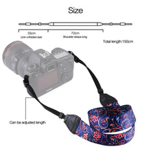Load image into Gallery viewer, PULUZ Retro Ethnic Style Multi-color Series Shoulder Neck Strap Camera Strap Belt for Sony ,Canon ,SLR / DSLR Cameras Universal