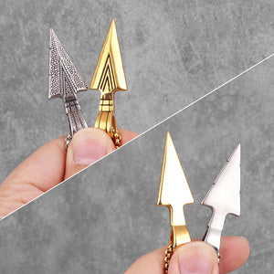 Sparta Spearhead Long Men Necklaces Pendants Chain Punk for Boyfriend Male Stainless Steel Jewelry Creativity Gift Wholesale