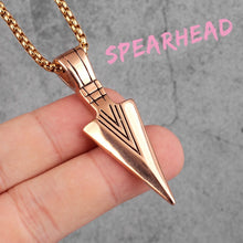 Load image into Gallery viewer, Sparta Spearhead Long Men Necklaces Pendants Chain Punk for Boyfriend Male Stainless Steel Jewelry Creativity Gift Wholesale
