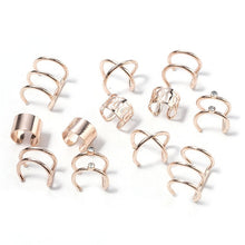 Load image into Gallery viewer, 2020 New Fashion 6Pcs/Set Ear Cuffs 4 Color Leaf Ear Cuff Clip Earrings for Women Earcuff No Piercing Fake Cartilage Earrings