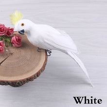 Load image into Gallery viewer, 25/35cm Handmade Simulation Parrot Creative Feather Lawn Figurine Ornament Animal Bird Garden Bird Prop Decoration Miniature