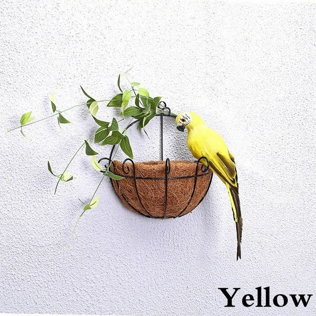 25/35cm Handmade Simulation Parrot Creative Feather Lawn Figurine Ornament Animal Bird Garden Bird Prop Decoration Miniature