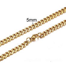 Load image into Gallery viewer, CUBAN LINK 3 TO 7 MM  STAINLESS STEEL NECKLACE FOR MEN CHOKER JEWELRY