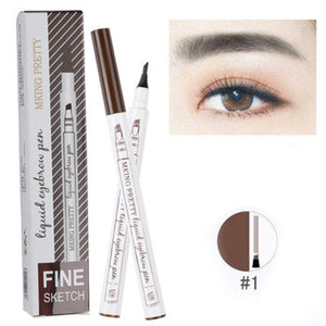 4 Head Eye Brow Tattoo Dye Tint Pen Liquid Eyebrow Pencil Women Makeup Sketch Waterproof Brown Liner Long Lasting Eyebrow TSLM1