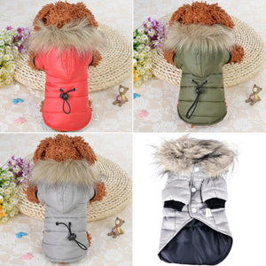 Dog Clothes Pet Dog Winter Warm Small Coat For Chihuahua Soft Fur Hood Puppy Jacket Clothing for Chihuahua Small Large Dogs