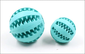 New Pet Dog Toy Interactive Rubber Balls Pet Dog Cat Puppy Chew Toys Ball Teeth Chew Toys Tooth Cleaning Balls Food