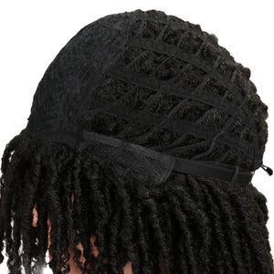 "MAGIC Hair Soft Short Synthetic Wigs For Black Women 14""Inch High Temperature Fiber Dreadlock Ombre Burg Crochet Twist Hair"