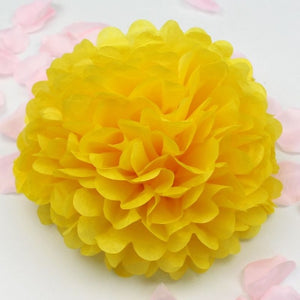 10''25cm Handmade Tissue Paper Pompoms Wedding Decorative Paper Flower Ball Baby Shower Birthday Party Decoration paper pom poms