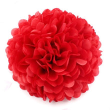 Load image into Gallery viewer, 10''25cm Handmade Tissue Paper Pompoms Wedding Decorative Paper Flower Ball Baby Shower Birthday Party Decoration paper pom poms