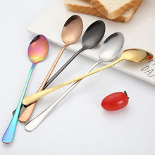 Load image into Gallery viewer, 2020 New Vacuum Plating Stainless Steel Coffee Spoon Long Handle Tea Spoons Kitchen Hot Drinking Flatware Drop Shipping