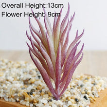 Load image into Gallery viewer, Artificial Green Purple Red Flocking Succulent Plants DIY Home Garden Office Wedding Decoration Mini Bonsai Plante Artificielle