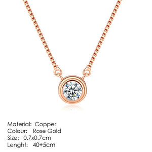 Top Quality Fashion Crown Pendant Necklace for Women Retro Vintage Classic Rose Gold Color Cubic Zircon Stone Jewelry N390