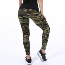 Load image into Gallery viewer, YSDNCHI 2020 Camouflage Womens for leggins Graffiti Style Slim Stretch Trouser Army Green Leggings Deportes Pants K085