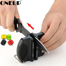 Load image into Gallery viewer, ONEUP Mini Ceramic Rod Knife Sharpener Two-stage Tungsten Portable Butterfly Type Whetstone Sharpener Sharpening Knives Stone