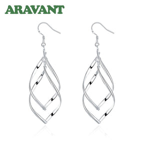 2020 New Arrival 925 Silver Jewelry Women High Quality Long Earrings Hanging Drop Earring Jewelry