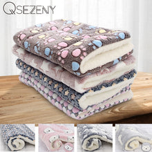 Load image into Gallery viewer, Soft Flannel Thickened Pet Soft Fleece Pad Pet Blanket Bed Mat For Puppy Dog Cat Sofa Cushion Home Rug Keep Warm Sleeping Cover